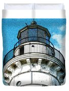 Cana Island Lighthouse Tower Duvet Cover