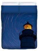 Cana Island Lighthouse Solstice Duvet Cover
