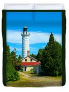 Cana Island Wi Lighthouse Duvet Cover