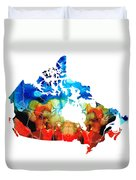 Canada - Canadian Map By Sharon Cummings Duvet Cover