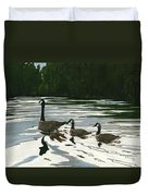 Canadas On Wilson Lake Nc Duvet Cover