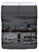 Canadian And United States Icebreakers Duvet Cover