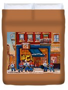 Canadian  Artists Paint Hockey And Montreal Streetscenes Over 500 Prints Available  Duvet Cover