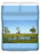 Canadian Geese Community In West Haven Duvet Cover