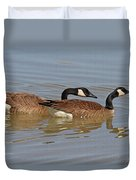 Canadian Geese Mates Duvet Cover