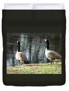 Canadian Geese On Spaulding Pond Duvet Cover