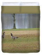 Canadian Geese Tourists Duvet Cover