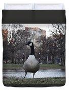 Canadian Goose At Boston Public Garden Duvet Cover