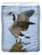 Canadian Goose Stretching Duvet Cover