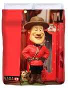 Canadian Mountie Duvet Cover