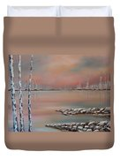 Canadian Northern Reflections Duvet Cover by Beverly Livingstone