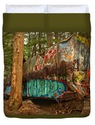 Canadian Pacific Box Car Wreckage Duvet Cover