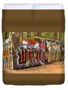 Canadian Pacific Train Wreck Graffiti Duvet Cover