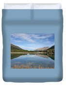 Canadian Rocky Mountains With Lake  Duvet Cover