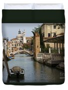Canal In Venice Duvet Cover