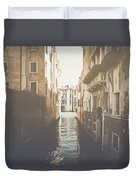 Canal In Venice Italy Applying Retro Instagram Style Filter Duvet Cover