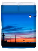 Canal Park Sunrise Duvet Cover