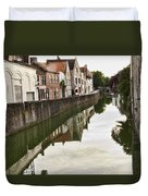 Canal Reflection  Duvet Cover