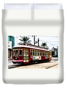 Canal Street Car Duvet Cover by Bill Cannon