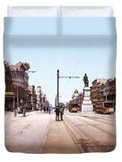 Canal Street New Orleans 1900 Duvet Cover