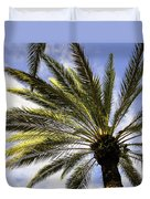 Canary Island Date Palm Duvet Cover