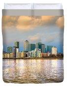 Canary Wharf - London - Uk Duvet Cover