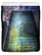 Canary Wharf Reflections Duvet Cover
