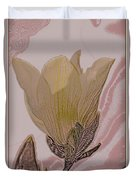 Canary Yellow Magnolia Duvet Cover