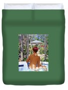 Candace Being Candlish On Canvas Duvet Cover