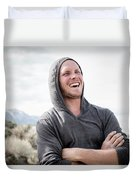 Candid Portrait Of Laughing Young Duvet Cover