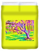 Candied Golf Game Duvet Cover