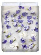 Candied Violets Duvet Cover