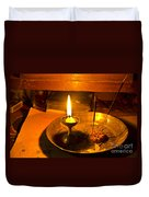 Candle And Incense Sticks Duvet Cover