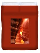 Candle Flame At Antelope Canyon Duvet Cover
