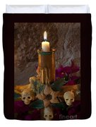 Candle On Day Of Dead Altar Duvet Cover