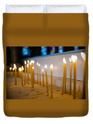 candles in the Catholic Church shallow depth of field Duvet Cover