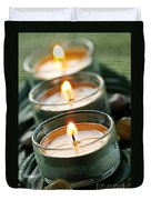 Candles On Green Duvet Cover
