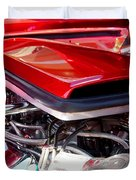 Candy Apple Red Horsepower - Ford Racing Engine Duvet Cover