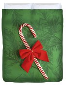 Candy Cane Duvet Cover by Colette Scharf