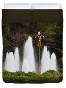 Candy Cane Water Fountain Duvet Cover