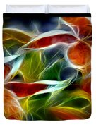 Candy Lily Fractal Triptych Duvet Cover