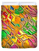 Candy - Lolly Pop Abstract  Duvet Cover
