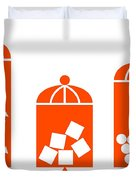 Canisters In Orange Duvet Cover