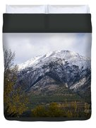Canmore Rocky Mountain View  Duvet Cover