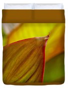 Canna Lily Leaf Duvet Cover