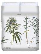 Cannabis And Flax Duvet Cover