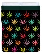 Cannabis Leaf Multi-coloured Pattern Duvet Cover