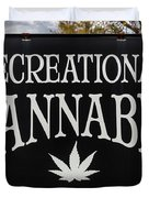 Cannabis Marijuana Store In Ridgway Duvet Cover