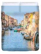 Cannareggio Canal Venice Duvet Cover