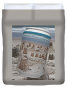 Canned Castles Duvet Cover